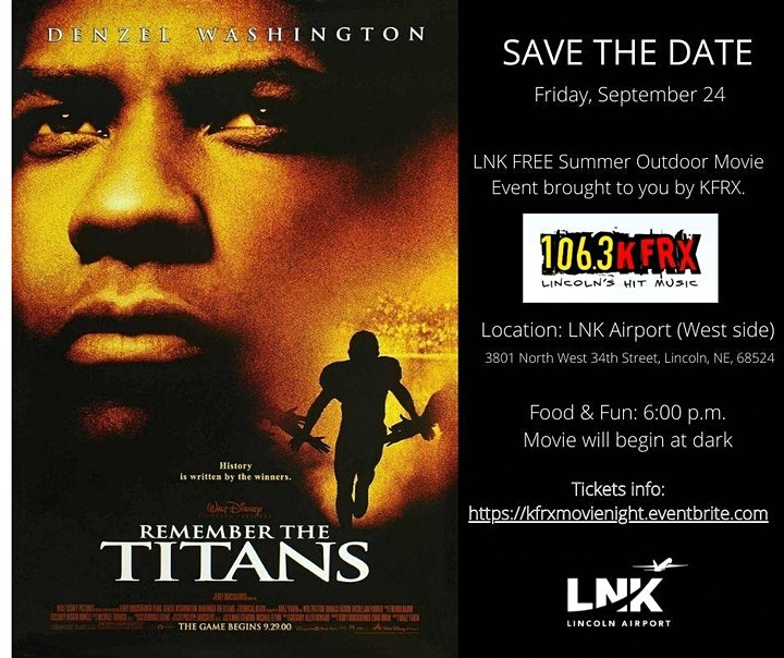 LNK September Outdoor Movie: Remember the Titans presented by KFRX image