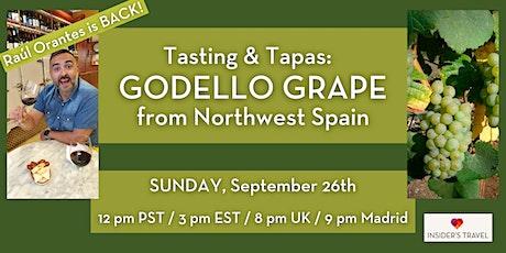 Tasting and Tapas: Raúl is back! SUNDAY Sept. 26, Godello & Ajo Blanco Soup tickets