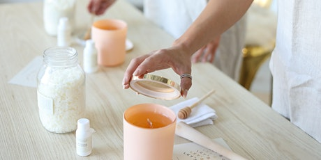 Virtual Wooden Wick Candle Making Class tickets