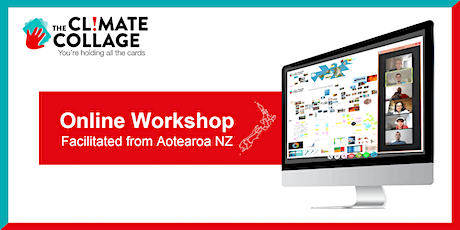 The Climate Collage Workshop Online (facilitated from Aotearoa NZ) billets