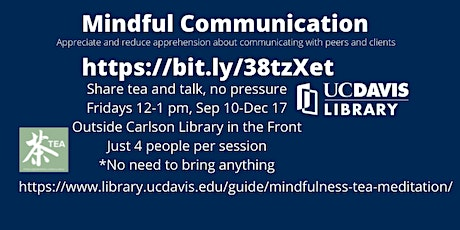 Mindful Conversations with Tea tickets