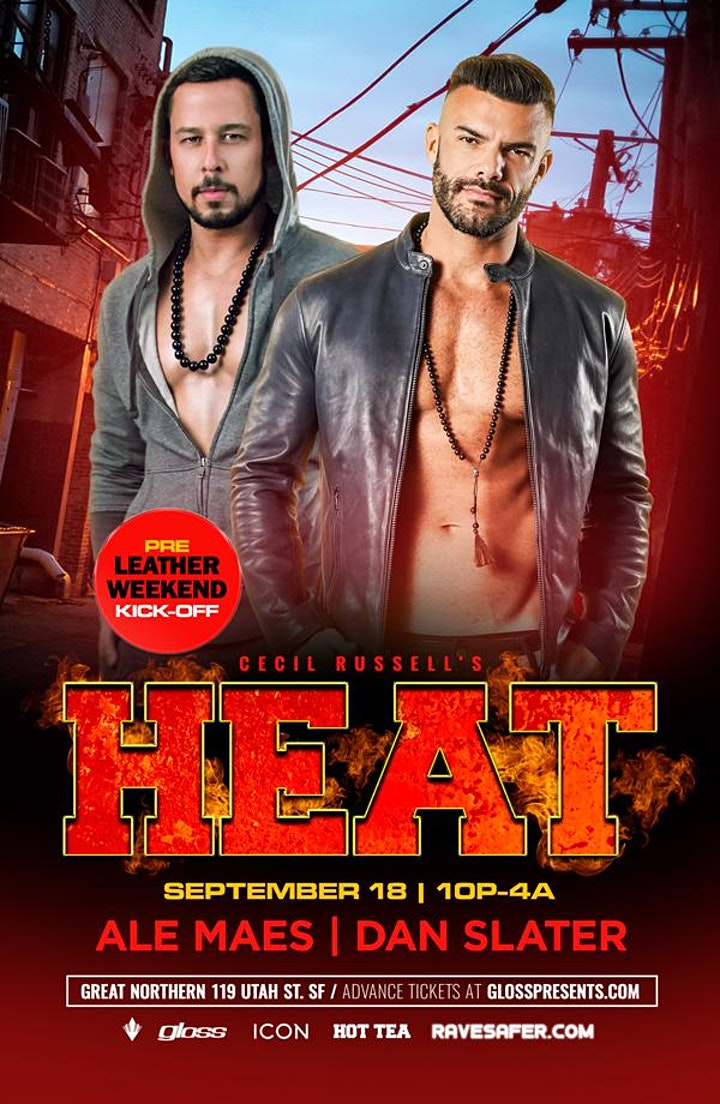 Cecil Russell's HEAT: Pre-Leather Weekend Kick-Off image