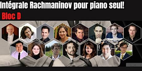 Intégrale Rachmaninov pour piano seul! Bloc D billets