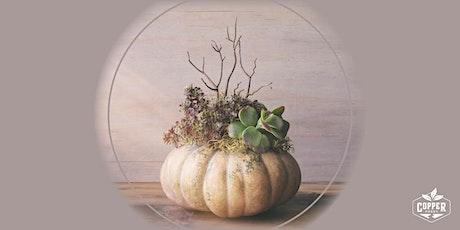 Pumpkin and Succulent Fall Planter Class tickets