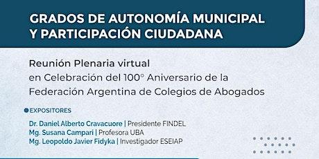 GRADOS DE AUTONOMÍA MUNICIPAL Y PARTICIPACIÓN CIUDADANA entradas