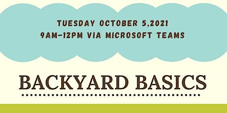 Backyard Basics Online Class tickets
