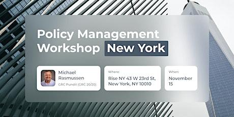 Policy Management Workshop - New York tickets