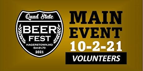 Quad State Beer Fest VOLUNTEERS 10-2-21 tickets