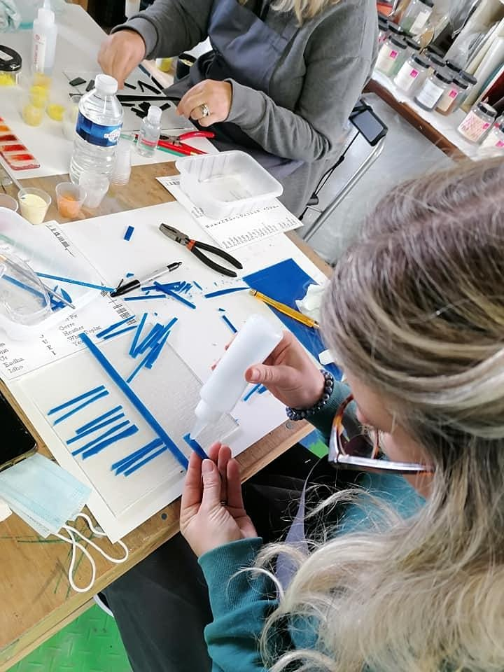 OCTOBER Fused Glass OGHAM Experience with Artist, Tracey Mc Verry image
