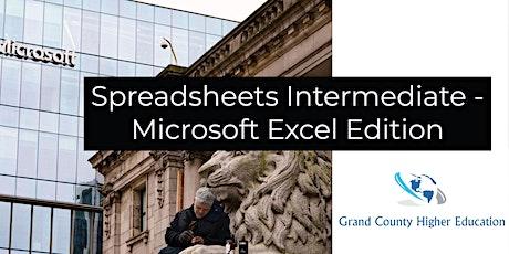 Spreadsheets Intermediate - Microsoft Excel Edition tickets