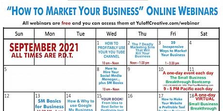 Your September Free Marketing Webinars tickets
