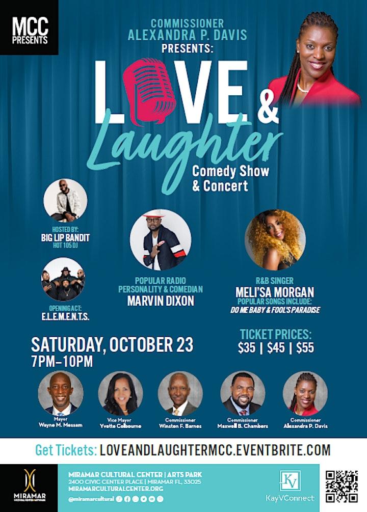 Love and  Laughter featuring Meli'sa Morgan and Marvin Dixon image