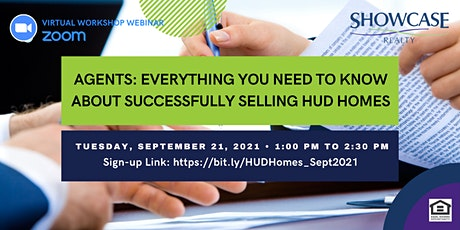How To Successfully Sell a HUD Home - Zoom Webinar for Real Estate Pros tickets