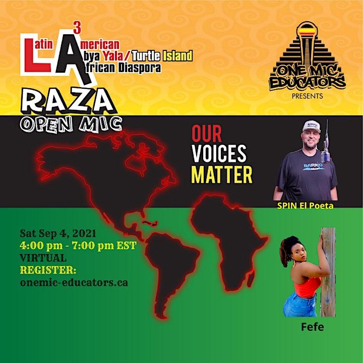 LA3 Raza Open Mic image