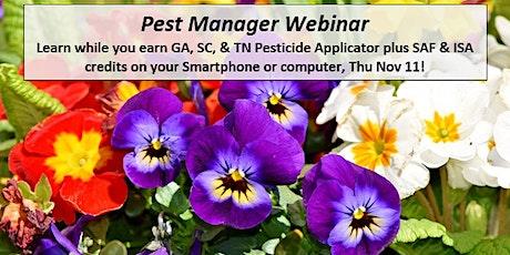 Pest Manager Webinar tickets