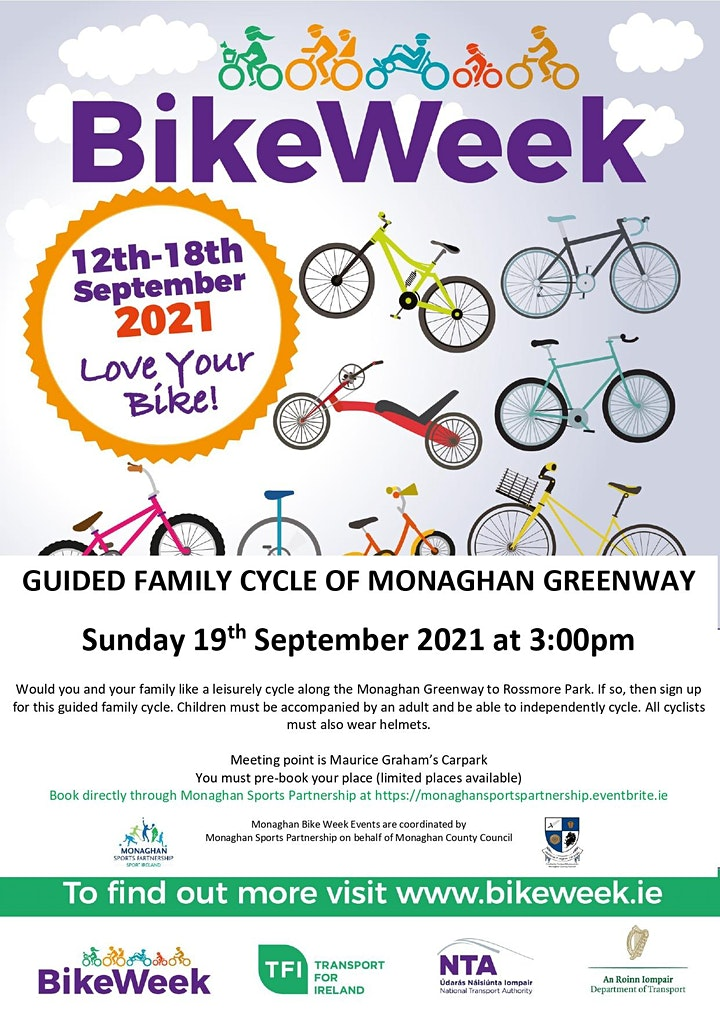 Monaghan Greenway Family Cycle Sunday Sept 19 @ 3pm image