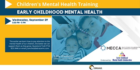 Early Childhood Children's Mental Health Training tickets