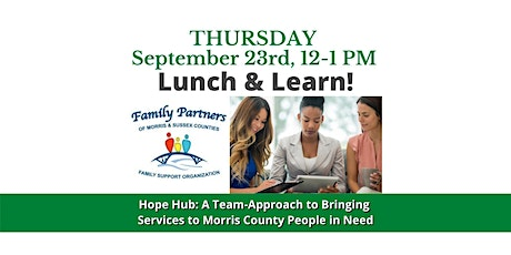 Hope Hub: A Team-Approach to Bringing Services to Morris County tickets