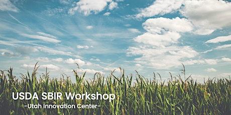 Utah USDA SBIR Workshop – Virtual tickets