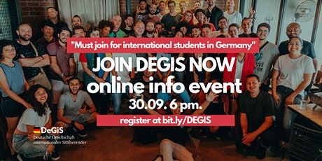 International Student in Germany? Join DEGIS! (Membership Info Event) tickets