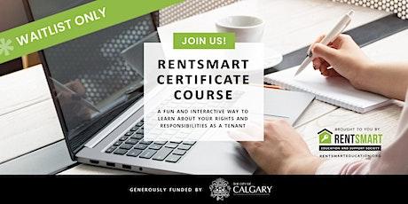 :: Waitlist For Alberta RentSmart Certificate Virtual Course :: tickets