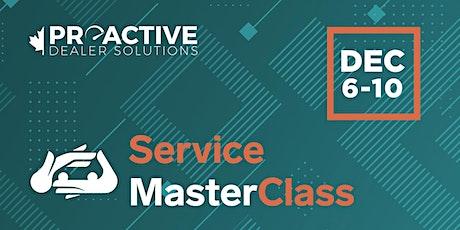 December - Canadian Service MasterClass tickets