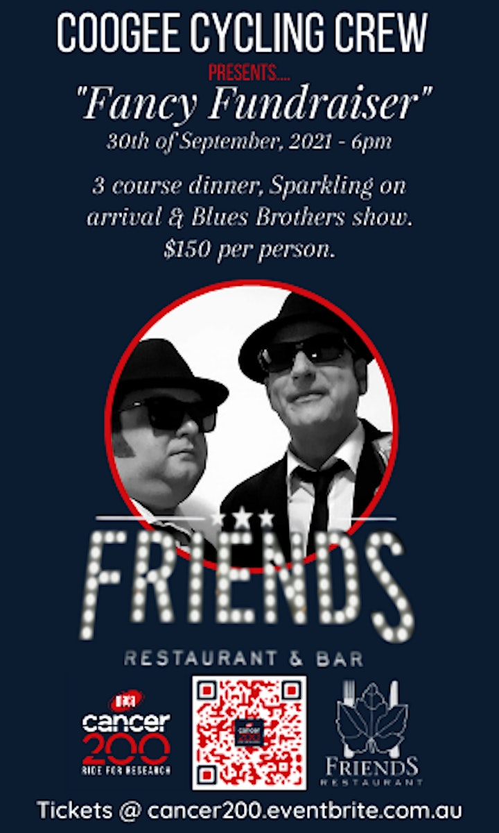 """Coogee Cycling Crew  """"Fancy Fundraiser"""" (Dinner & Blues Brothers Show) image"""