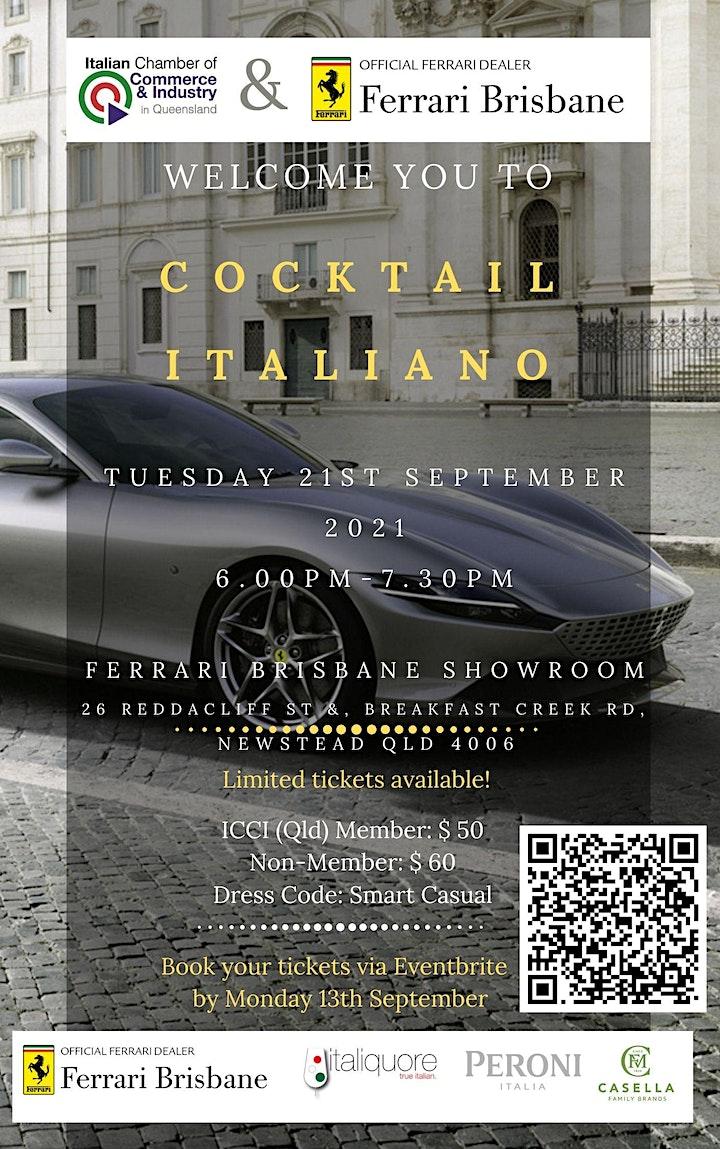 ICCI QLD and Ferrari Cocktail Italiano image