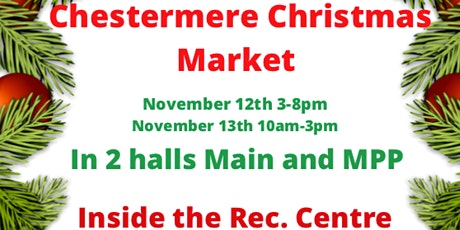 Chestermere 5th Annual Christmas market tickets