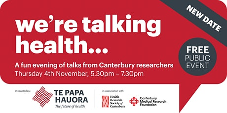 We're  talking health...Research Talks Event - NEW DATE tickets