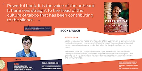 Book Launch - Disruptive voices of Fijian woman by Letitia Shelton tickets