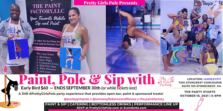 Trick or Treat Paint, Pole & Sip  Showcase in ATL image