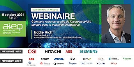 Webinaire de l'AIEQ - Association internationale de l'hydroélectricité billets