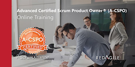 ADVANCED CERTIFIED PRODUCT OWNER®(ACSPO®)23-24 OCT Australia Course Online tickets