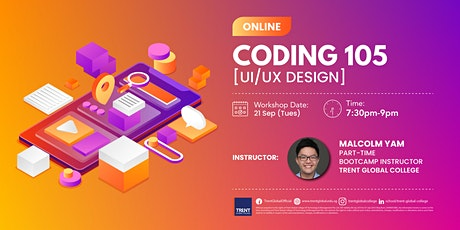 Coding 105, UI/UX Design Workshop tickets