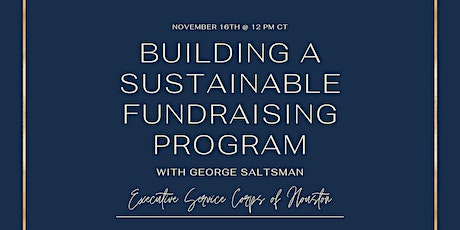 Building a Sustainable Fundraising Program tickets