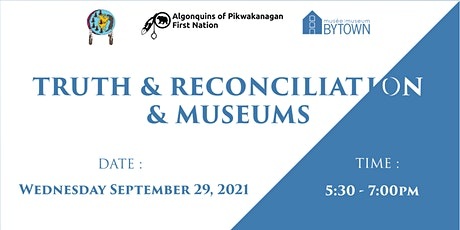 Round Table of Algonquin Leaders on Truth and Reconciliation and Museums tickets