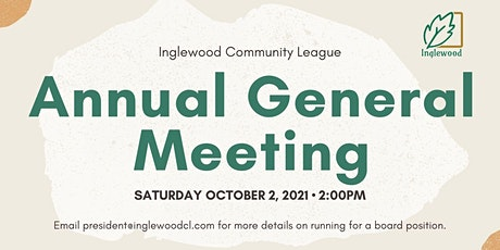 Inglewood Community League 2021 AGM tickets