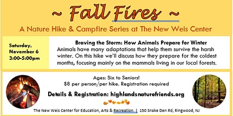Fall Fires: Nature Hike & Campfire tickets