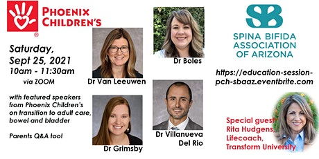 SBAAZ w Phoenix Children's Experts- Transition to Adult Care, Bowel/Bladder tickets
