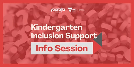 2021 Kindergarten Inclusion Support Information Session tickets