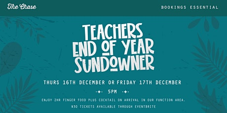 Teachers End of Year Sundowner tickets