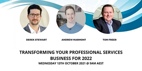 Transforming Your Professional Services Business for 2022 Tickets