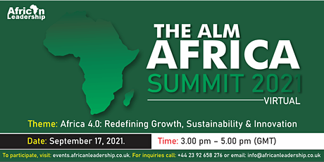 The ALM Africa Summit (Virtual) 2021 tickets