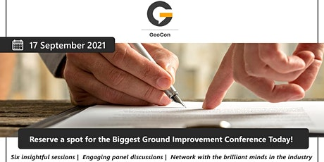 GeoCon - Virtual Conference For The Ground Improvement Industry ingressos