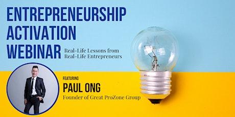 Entrepreneurship Activation Webinar tickets