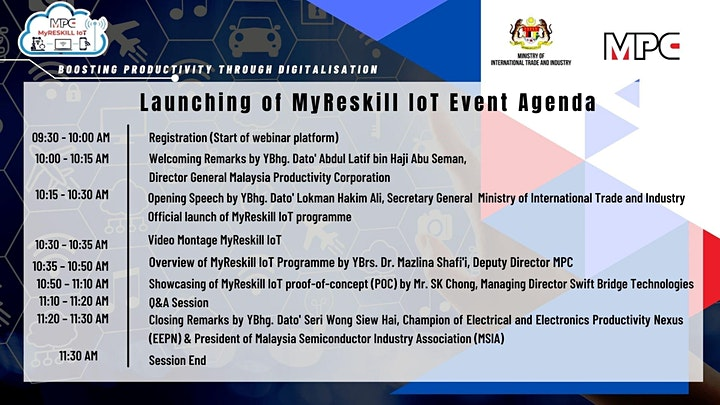 MPC MyRESKILL IoT Launching image