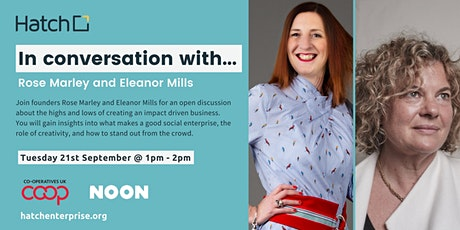 In Conversation with Rose Marley and Eleanor Mills tickets