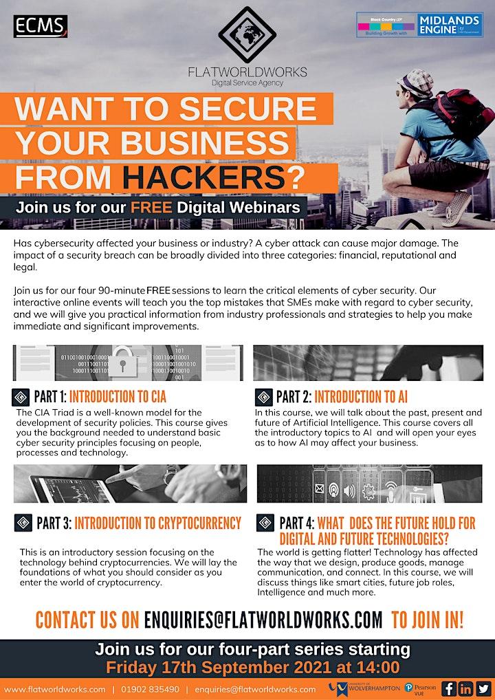 FlatWorldWorks Cyber Security Webinars image