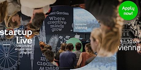 Startup Live Vienna — grow your network Tickets